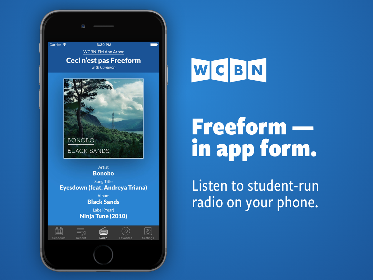 Freeform — in app form: listen to student-run radio on your phone.